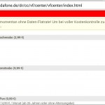 Website von Vodafone