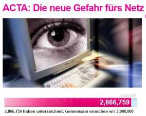 Avaaz kämpfte gegen ACTA...