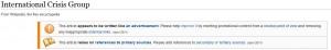 Markierung am englischen Wikipedia-Eintrag der ICG