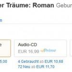 Spitzenreiter Belletristik: Als eBook 2€, rund 10%, billiger.