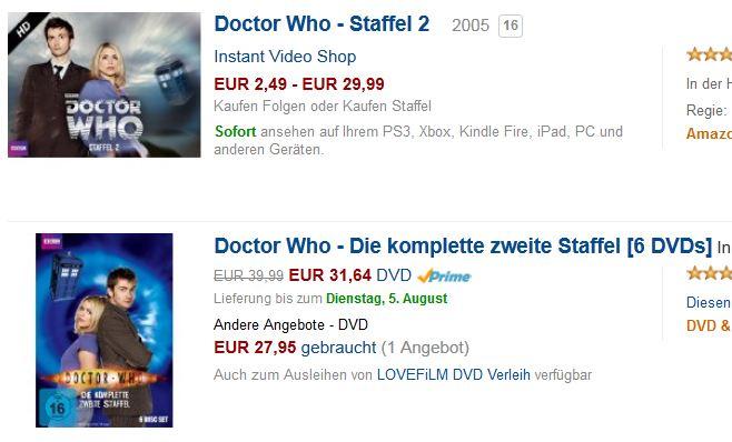 31,64€ für die DVD oder für 29,99€ abhängig von Netz und Anbieter streamen?  Keine leichte Entscheidung.